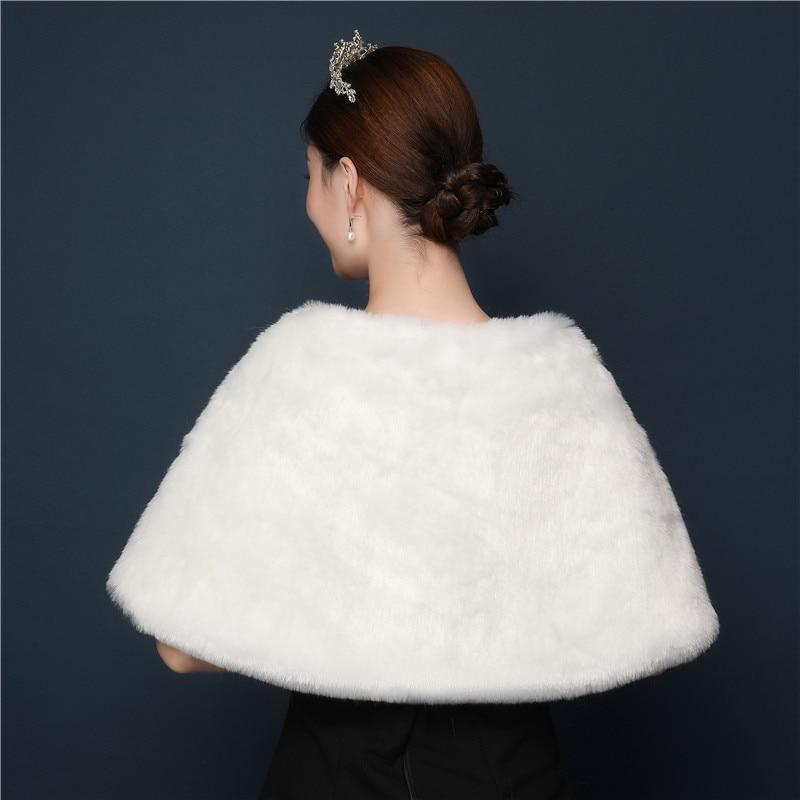 1PCS  Winter Wool Shawl Wedding Dress Accessories Bride Wedding Performance Banquet Warm Female Shawl