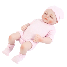27cm High Quality Silicone Reborn Sleeping Baby Doll Kids Toddler Baby Playmate Gift for Girls Dolls Bebe Reborn Soft Toys купить недорого в Москве