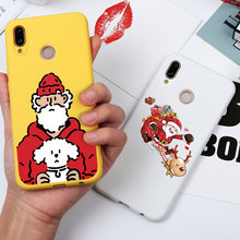Happy New Year Cartoon Cute Case For Coque Huawei Honor 8X 9X 7A Pro View 10 20 9 Lite 7C 7X Play Nova 3 3e 4 4e 5i Pro Case TPU(China)