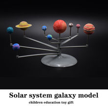 1pcs Creative Solar System Model 9 Planets Kit Mini Crafts Astronomy Painting Model Science Planetarium Educational DIY Toys Set 2017 diy the solar system nine planets planetarium model kit science astronomy project early education for children