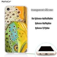 Южно-платте рыболовная форель прозрачный, мягкий чехол для телефона iphone 5s se 6 6s 6plus 7 7plus 8 8plus X XR XS максимальный чехол