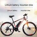 26-дюймовый Электрический горный велосипед с литиевой батареей, 27-скоростной велосипед для взрослых с переменной скоростью, внедорожный вел...