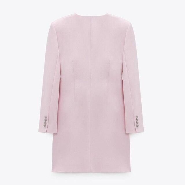 CP Long Sleeve Collected Waisted Dresses Women Fashion Casual V Neck Dress Women Elegant Mini Dresses Female Ladies 5