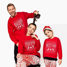 2020 Christmas Family Fashion Mother Father Baby Cotton Clothes Clothing Sweatshirt Hoodie Xmas Matching Outfits