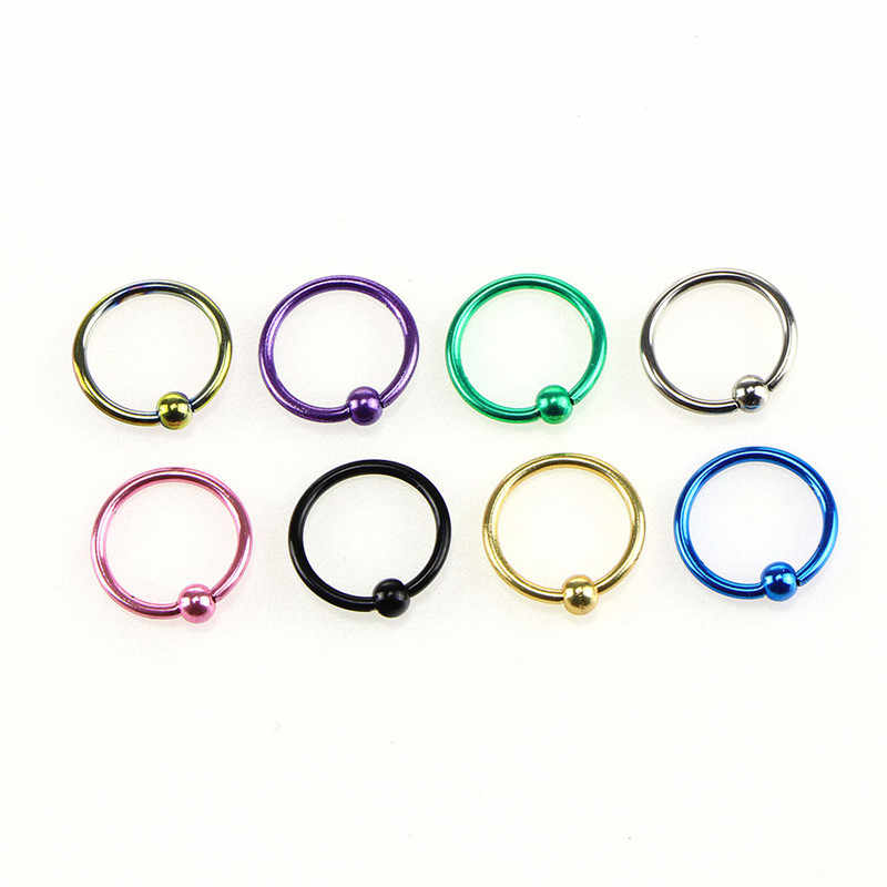 1 ชุดแหวน Horseshoe จมูก Septum แหวน G23 ไทเทเนียมวงกลมเจาะหูกระดูกอ่อน Tragus เจาะเครื่องประดับ