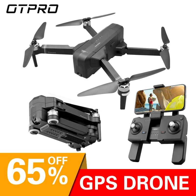 Drones Gps OTPRO dron avec caméra wifi 4K HD avion professionnel quadrirotor hélicoptère de course suivez-moi des jouets de Drone RC de course