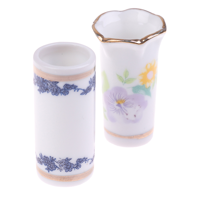 1Pc <font><b>1</b></font>:<font><b>12</b></font> <font><b>Doll</b></font> <font><b>House</b></font> Miniatures Ceramics Vase Chopsticks Pen Holder <font><b>Accessories</b></font> Decorative image