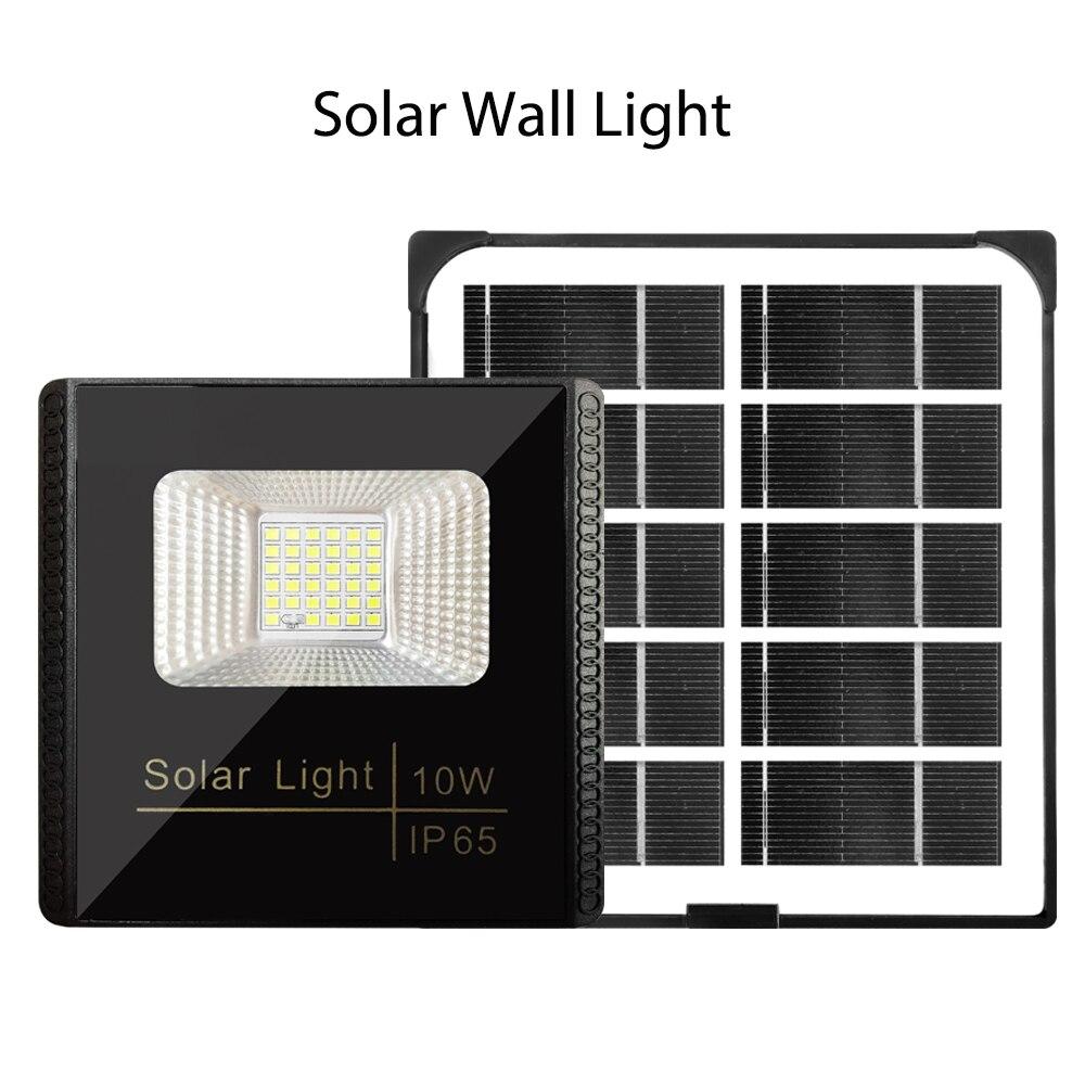 Solar Powered LED Lights Spotlight 10W Light Control Floodlight Street Lamp Waterproof IP65 For Outdoor Garden Garage Courtyard