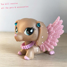Earring-Collar Pet-Shop Figuers Accessories Rare Kids Dachshund with Wing for Christmas-Gift