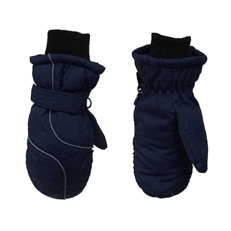 Популярные Нескользящие Детские лыжные перчатки, ветрозащитные водонепроницаемые детские зимние варежки, утепленные варежки для девочек и мальчиков, детские варежки, теплые перчатки для детей - Цвет: 2