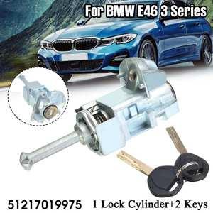 Image 1 - Conjunto esquerdo do tambor do cilindro do fechamento da porta do motorista do carro com 2 chaves para bmw série 3 e46 m3 2001 2006 51217019975