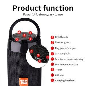 Image 3 - TG113C Bluetooth Speaker Portable Outdoor Loudspeaker Wireless Column With FM Radio Waterproof Subwoofer &Phone Holder 9 Colors