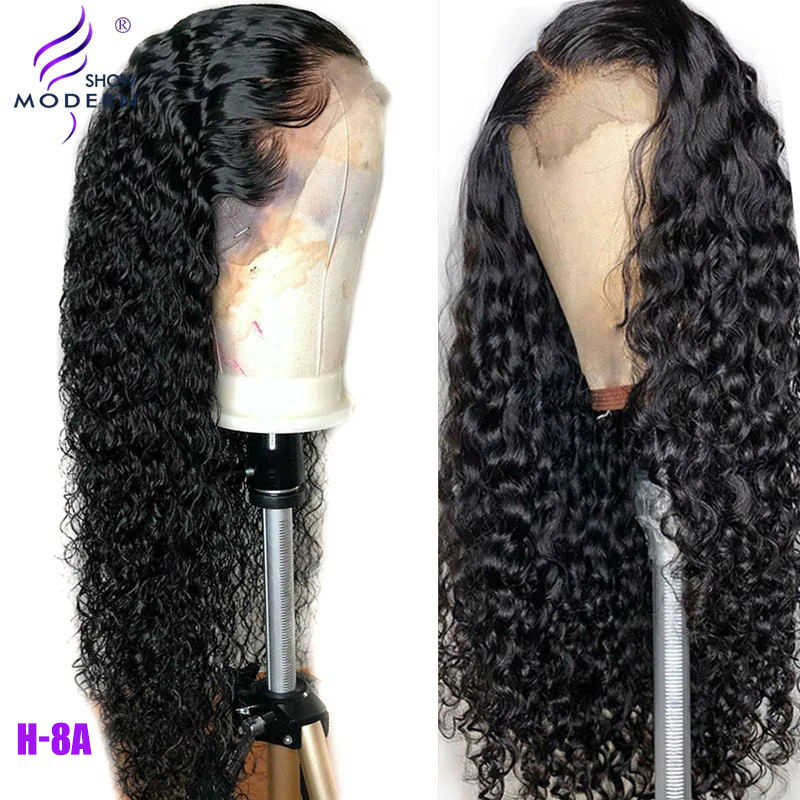 Brazilian Water Wave Wig 13*4 Lace Front Human Hair Wigs Pre Plucked Natural Hairline 150% High Radio Remy Hair Wigs Modern Show