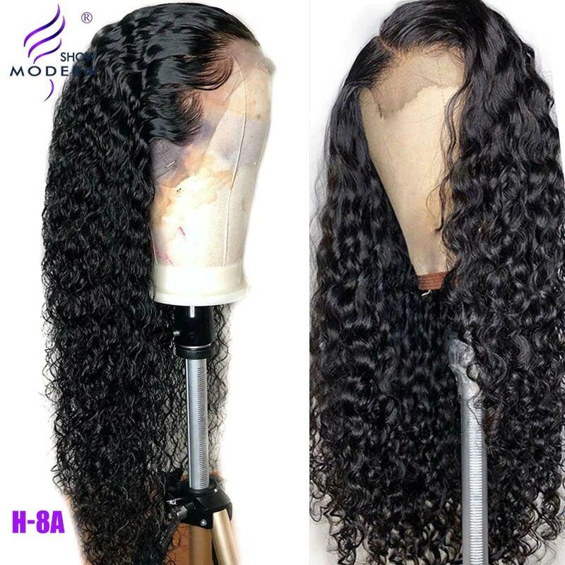 Бразильский Волнистый парик 13*4, человеческие волосы на кружеве, парики, предварительно выщипанные натуральные волосы, 150%, высокое радио, волосы remy, парики, современное шоу