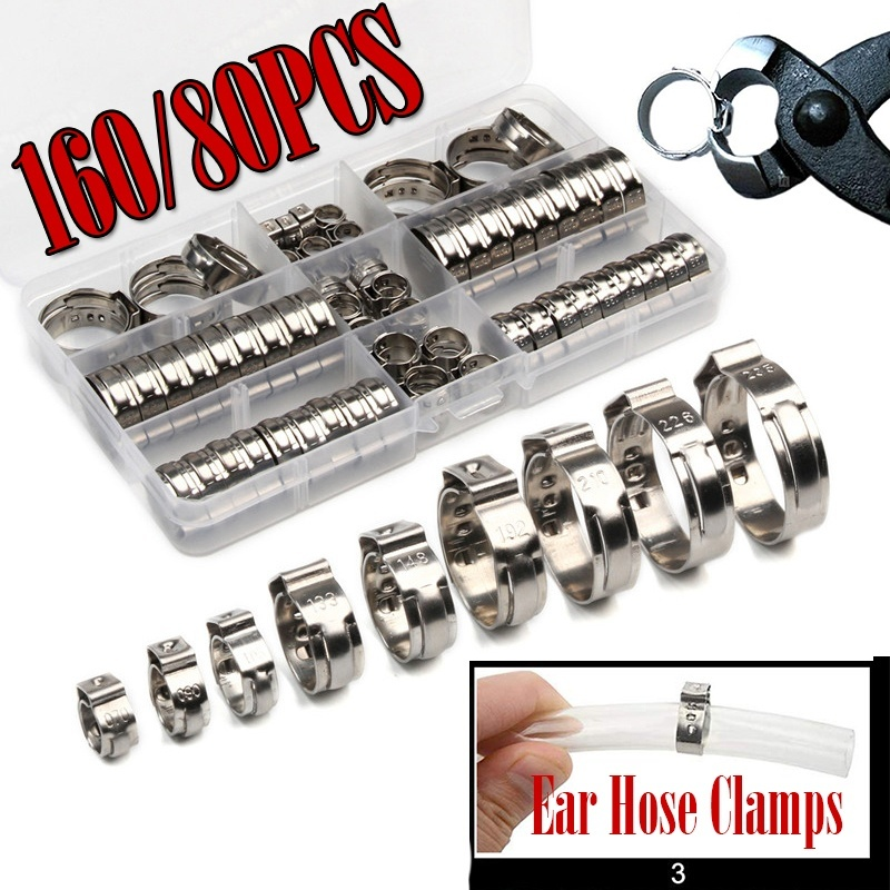 """Steel Worm Gear Hose Clamp Clip size 8-12mm 1//3-1//2/"""" Pipe Tube"""