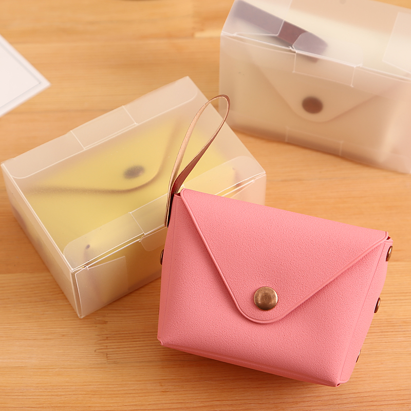 Popular Cute Candy Color Small Coin Purse Bag Holder Zip Coin Purse Key Bag Clutch Handbag Girl Women Leather Small Mini Wallet