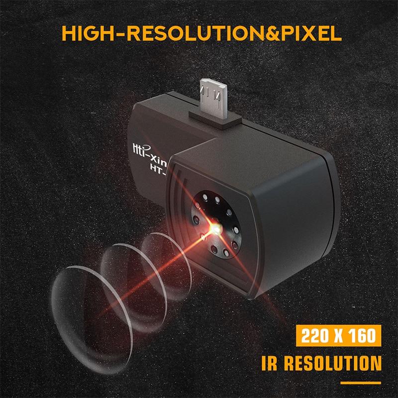 HT-101 телефон тепловое Обнаружение Imager для Android Тип C Тепловая температура видео фотографии лицо изображений камера