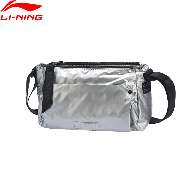 (Clearance)Li-Ning Unisex The Trend Crossbody Bag 2L Zippers Hit-color Strap Nylon LiNing Sports Shoulder Bags ABDP022 BJF146