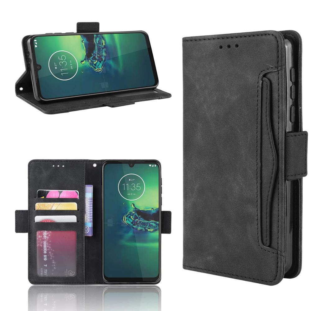 Leather phone <font><b>case</b></font> for <font><b>Motorola</b></font> moto EDGE / One Fusion / One <font><b>Vision</b></font> Plus back Cover Flip wallet with stand Retro Coque image