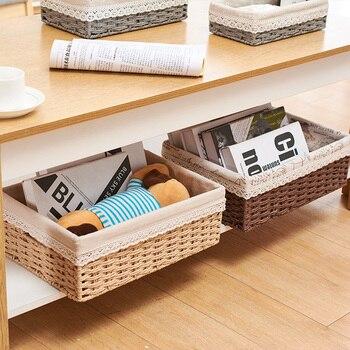 Strange Rattan Plaited Articles Accept Basket Desktop Accept Basket Snacks Remote Control Accept Box Underwear Toys Accept Box фото