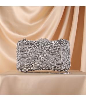 Silver Gold Black Crystal Diamond Beading clutch  2