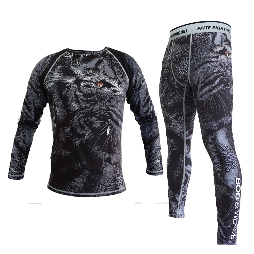 MMA Boxing Compression Pants Rashguard Mma Fitness Men Trousers Muay Thai Tight Fight Jersey
