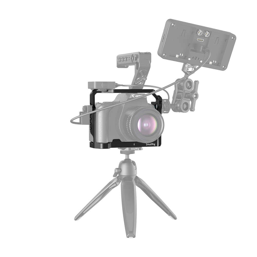 Smallrig Kandang untuk Canon EOS 200D Mark II/200D/EOS Rebel SL3/EOS Rebel SL2/EOS 250D/EOS Kiss X10/EOS Kiss X9 Kamera DSLR Cage2442