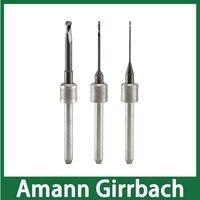 Amann Girrbach Концевая мельница с DLC пальто для фрезерования стоматологический Цирконий блок доступный размер 0,6 мм, 1,0 мм, 2,5 мм