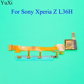 YuXi For Sony Xperia Z L36H L36 LT36 C6602 C6603 Power Button Flex Cable With Microphone Ribbon image