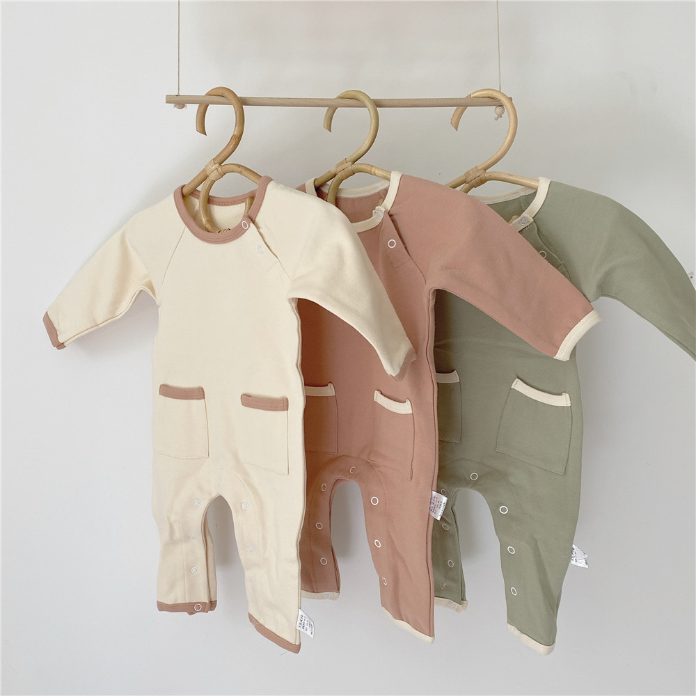 Newborn Toddler Baby Boys Girls Clothes Letter Print Round Neck Romper Ruffle Long Sleeve Cotton Jumpsuit