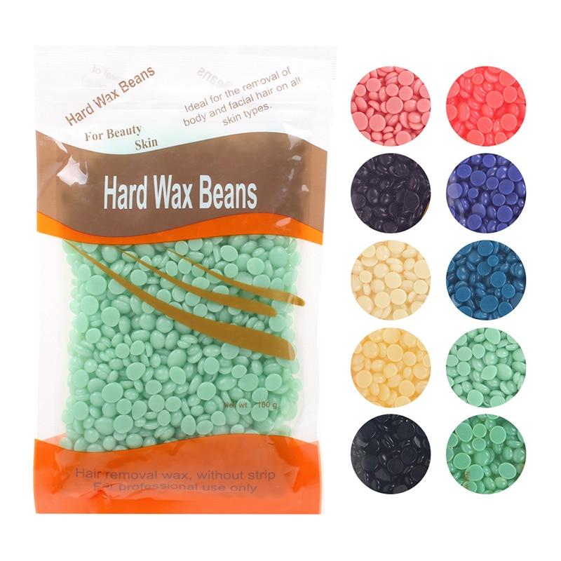 100g/Pack Wax Beans Depilatory Hot Film Wax Pellet  Removing Bikini Face Hair Legs Arm Hair Removal Bean Unisex