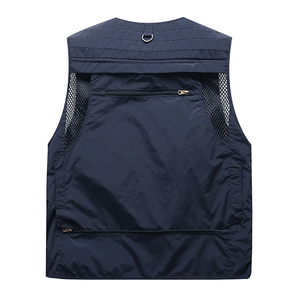 Image 3 - Outdoor Mens Tactical Fishing Vest jacket man Safari Jacket Multi Pockets Sleeveless travel Jackets 5XL 6XL 7XL, 7898m