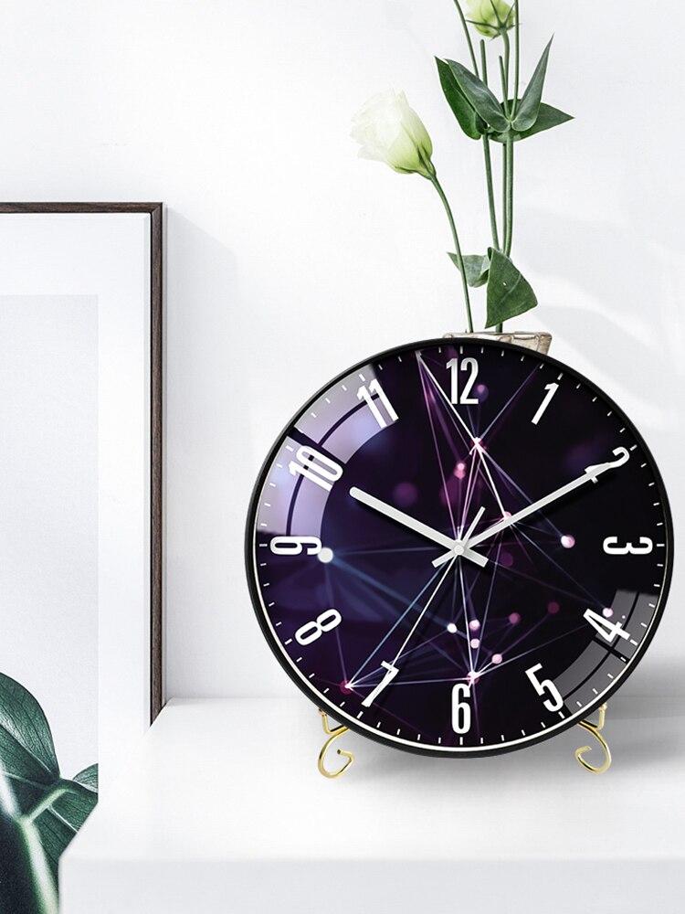 Table horloge Stander Nordi décoration afficheur de bureau maison horloges salon muet minimaliste Design moderne silencieux montres - 6
