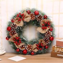 Corona de navidad hecha a mano de ratán, decoración de puerta de árbol de navidad, centro comercial, corona de Adviento, navidad