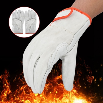 New Anti Wear Heat Safety Gloves Anti-Static Flexible ESD Sheep Leather Welding Security Accessories