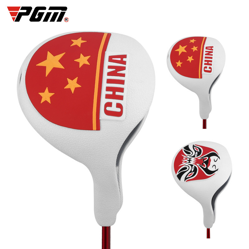 1 Pcs Golf Club Cover Head Cover No.1 Wood Red Flag Of China / Facial Makeup TPE Elastic Material Waterproof Washable Club Cover