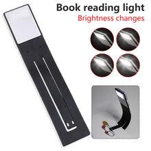 Lampe Rechargeable USB, luminosité réglable, pliable, Design à Clip, lumière de lecture nocturne pour lecture de livres électroniques, pour les lecteurs d'ordinateurs portables