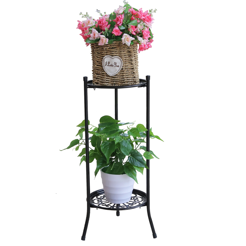 Art Flower Rack Balcony To Ground Green Luo Chlorophytum Meaty Flowerpot Frame European Style A Living Room Indoor Flower Airs