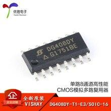 Оригинальные одноканальные аналоговые мультиплексоры CMOS DG408DY-T1-E3 / SOIC-16 8