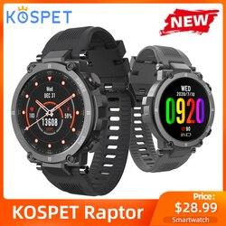 Nowy KOSPET Raptor Smart Watch Men 1.3 calowy ekran dotykowy IPS opaska monitorująca aktywność fizyczną IP68 wodoodporny pulsometr moda Smartwatch