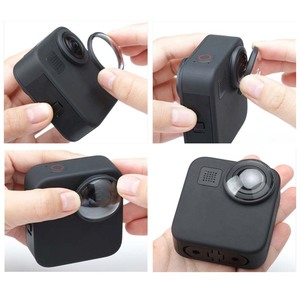 Image 2 - غطاء عدسة واقية لـ GoPro Max HD ، زجاج مقوى ، ملحقات كاميرا الحركة