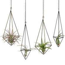 Display-Himmeli Planter Hanger Tillandsia Holder-4-Pack Metal with Chains 2-Sizes