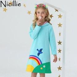 Crianças com capuz roupas de inverno vestido de algodão arco-íris crianças traje