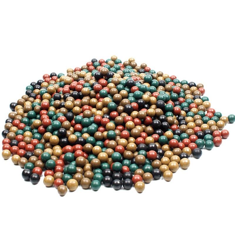 100pcs 9-10mm Safety Mud Pills And Hard Mud Ball Outdoor Hunting Slingshot Dedicated Environmental Health Marbles Slingshot
