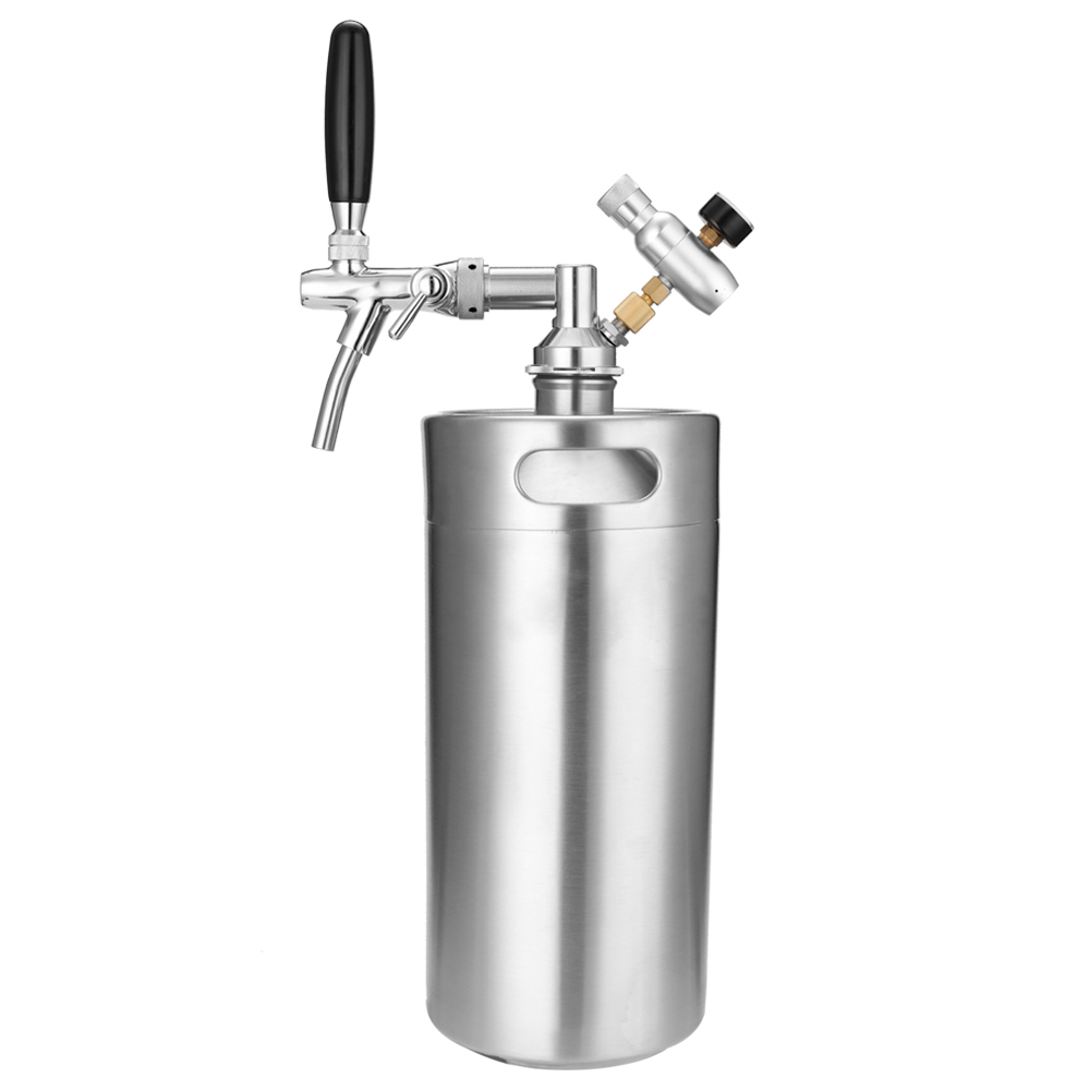 Stainless Steel 3.6L 5L Mini Beer keg Growle Stainless Steel Growler with Adjustable Tap and CO2 Injector Premium image