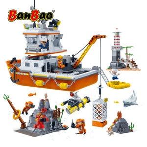 BanBao строительные блоки для детей, Обучающие строительные блоки для детей, модель игрушек 7401