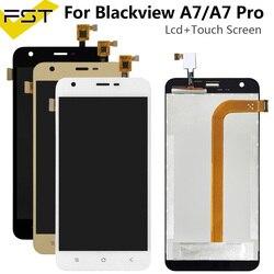 5.0 ''dla wyświetlacza LCD Blackview A7/A7 Pro + montaż digitizera ekranu dotykowego części zamienne do Blackview A7 A7 Pro w Ekrany LCD do tel. komórkowych od Telefony komórkowe i telekomunikacja na