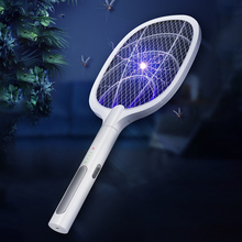 Lamp Zapper-Racket Killer Inserts Mosquito-Swatter Electric Rechargeable USB Bug 2-Modes
