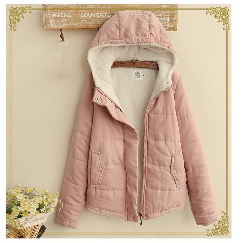 Moda kış ceket kadın kıyafetleri kalın sıcak kadın ceket ince pamuk ceket Parkas Jaqueta Feminina Inverno LW1253