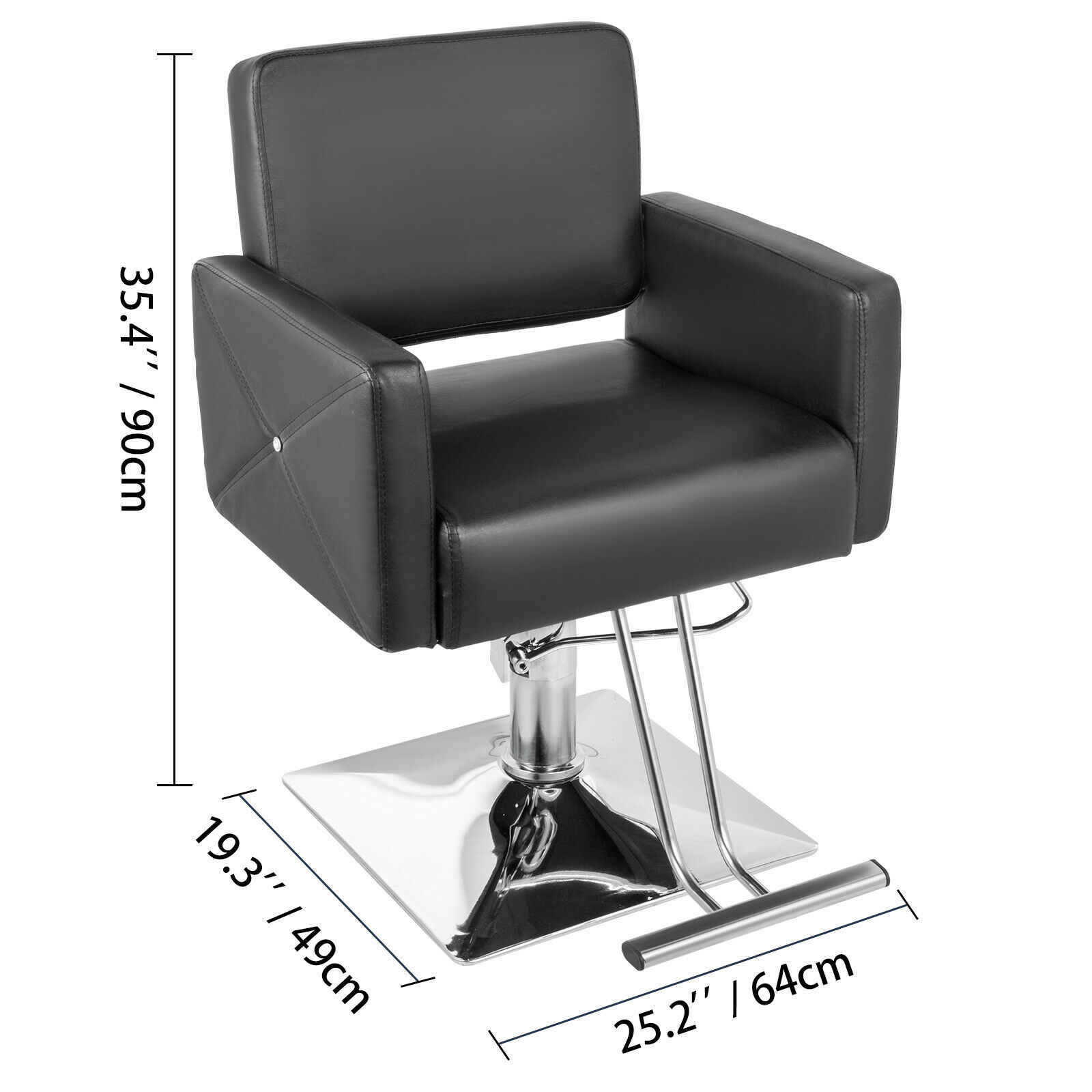 Hydraulic Barber Chair Pu Leather Styling Chairs For Salon Modern Hairdresser Tattoo Shaving Lift Square Barber Chair Barber Chairs Aliexpress